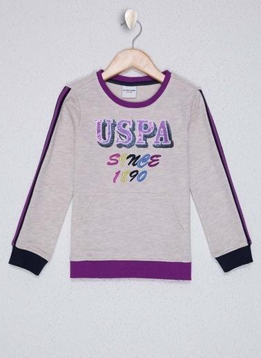 U.S. Polo Assn. U.S. Polo Assn. Bej Melanj Kız Çocuk Sweatshirt Bej